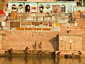 'People Bathing In The River; The Ganges, Varanasi, India'