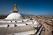 'Boudhanath Stupa; Kathmandu, Nepal'