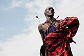 'Man From A Maasai Village; Kenya, Africa'