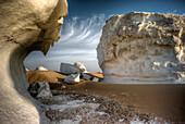 white desert near Oasis Farafra, western desert, Egypt, Libyan desert, Arabia, Africa