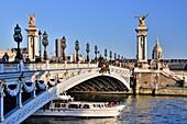France , Paris City, Alexander III Bridge