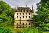 France ,Loire Valley , Azay le Rideau Castle.