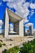 France , Paris City,La Defense District, the  Gran Arche