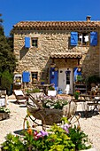 France, Vaucluse (84), Traditional house in Provence, charming and garden decor of the facade (permission to publish) /