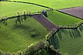 France, Aveyron (12), Landscape of crop, (aerial photo)