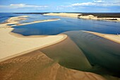 France, Gironde (33), the Dune du Pilat, the Banc d'Arguin (aerial photo)