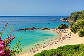 Spain , Catalonia ,Costa Brava Coast,  Lloret de Mar City, Santa Cristina Beach