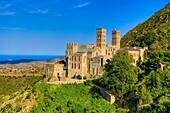 Spain , Catalonia,Girona Province , Costa Brava Coast ,San Pere de Rodes Monastery (Santiago trail)