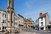 England,Somerset,Glastonbury,The High Street
