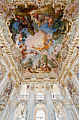 Ceiling fresco in the Steinerner Saal, Munich, Upper Bavaria, Bavaria, Germany