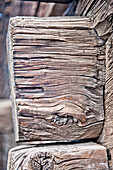 Close up of a wooden beam, Livigno, Lombardy, Italy