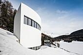 Modern chalet home, St. Moritz, Engadine valley, Upper Engadin, Canton of Graubuenden, Switzerland
