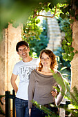 Thomas and Jutta Philipps, owners of Finca Raims, rebuilt vineyard and country hotel, Algaida, Mallorca, Balearic Islands, Spain