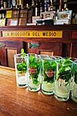La Bodeguita del Medio, a bar in Old Havana Habana Vieja popularized by Ernest Hemingway  Havana Vieja District, Havana, Cuba.