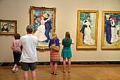 Massachusetts, Boston, Huntington Avenue, Museum of Fine Arts, collection, art, man, woman, viewing, painting