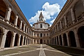 The courtyard of the church of Sant´ivo alla Sapienza in Rome, Italy