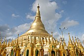 The Shwedagon Pagoda officially titled Shwedagon Zedi Daw also known as the Great Dagon Pagoda and the Golden Pagoda, is a 99 metres  325 ft  gilded pagoda and stupa  It is the most sacred Buddhist pagoda for the Burmese with relics of the past four Buddh