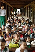 Primary school  Tagaung village  Along the Irrawady river  Mandalay Division  Burma  Republic of the Union of Myanmar