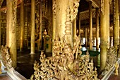 Shwenandaw Monastery or Golden Palace Monastery is a historical monastery located near Mandalay Hill  It was built by King Mindon in the 19th century  It is known for its teak carvings of Buddhist myths, which adorn its walls and roofs  The monastery is b