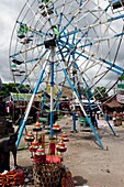 Ferris wheel  The fair  Yadanagu nats festival  Amarapura  Mandalay Division  Burma  Republic of the Union of Myanmar