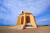 Cabo de Gata, Torre García chapel, Torre García Beach, Cabo de Gata-Nijar Natural Park, Biosphere Reserve, Almeria province, Andalucia, Spain  Europe