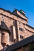 12th century, Aged, Alsace, ancient, architecture, Bas-Rhin, battlement, blue, building, castle, charming, color image, cultural, culture, day, defence, enchanting, Europe, facade, fort, fortification, fortress, France, gracious, haut, heritage, historic,