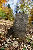 Graveyard at Thornton Gore which was a old hill farm community in Thornton, New Hampshire USA  It was abandoned in the 19th century