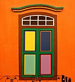 Colourful building in Little India in Singapore