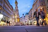 Pest Column,Graben street, Vienna, Austria, Europe