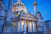 St  Charles Church or Karlskirche,Vienna, Austria, Europe