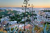 City view,Alhambra and Albaicín quarter,Granada Andalusia, Spain