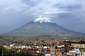 Volcano El Misti, view from Yanahuara, Arequipa, Peru