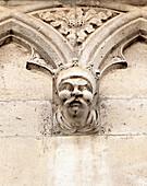 Human head on exterior of cathedral of St  James, Sibenik, Dalmatia, Croatia