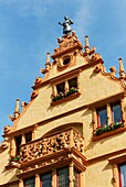 House of heads, dating from the German Renaissance, Colmar, Alsace, France