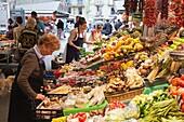 Barcelona, Spain  Mercat de Sant Josep, the market known popularly as La Boqueria