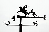 A weather vane from a series depicting scenes from the Robert Burns poem Tam O´ Shanter on the Poet´s Path at the Birthplace Museum in Alloway  Scotland, UK