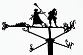 A weather vane from a series depicting scenes from the Robert Burns poem Tam O´ Shanter on the Poet´s Path at the Birthplace Museum in Alloway, Scotland, UK