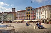 the center of Locarno, Ticino: the Piazza Grande