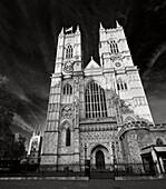 Westminster Abbey mit  beiden Türmen und Zentral Fassade, Westminster City, London, England