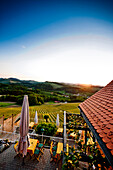 Terrace of a wine bar, Styria, Austria