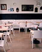 USA, California, Los Angeles, interior of Comme Ca Restaurant.