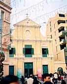 CHINA, Macau, colonial church of St Dominic, Senado Square, UNESCO world heritage site, catholic