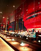 USA, Nevada, Las Vegas, the rooftop bar Mix Lounge at the Mandalay Bay Hotel and Casino.