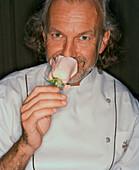 USA, Nevada, Las Vegas, Portrait of Chef Hubert Keller