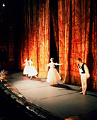 RUSSIA, Moscow, curtain call after a performance at the Bolshoi Theatre.