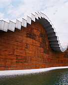 SPAIN, La Rioja, exterior of the Ysios Winery designed by Santiago Calatrava.