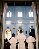 SRI LANKA, Asia, altar boys at St. Anne's Church in Beruwala