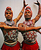 SRI LANKA, Asia, Kandy, portrait of dancers performing at theatre