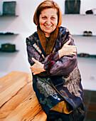 TURKEY, Istanbul, portrait of a happy fashion designer