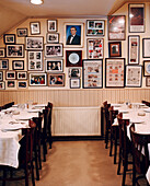 TURKEY, Istanbul, interior of Refik Restaurant with picture frames